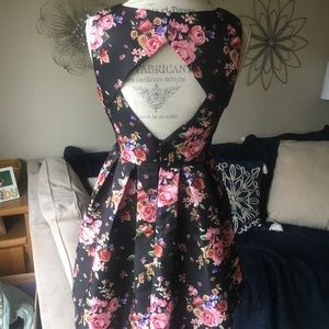 Forever 21 Dresses - Floral Black Dress